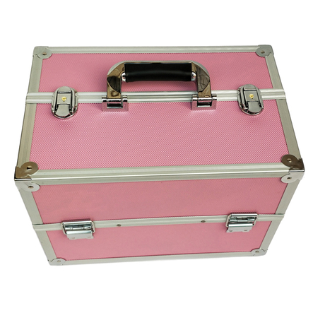 Large capacity multi-layer aluminum cosmetic case