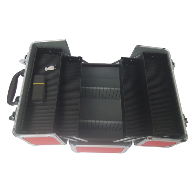 Wholesale aluminium cosmetic case beauty train case